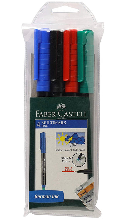 Faber-Castell Multi-Marker - Pack of 4 (Assorted)