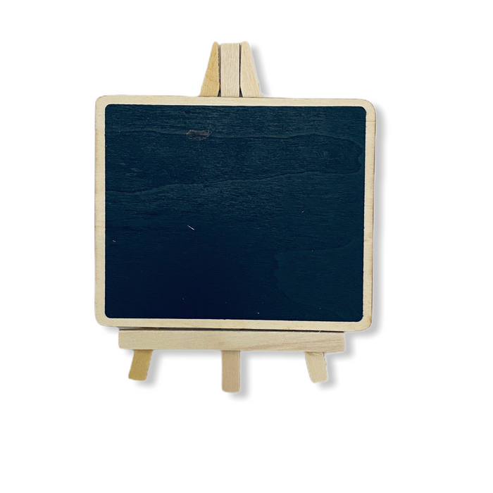 Vintage Wooden Mini Black Board With Easel ( Rectangle Shape )
