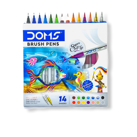 Doms Brush Pens (Set of 14)