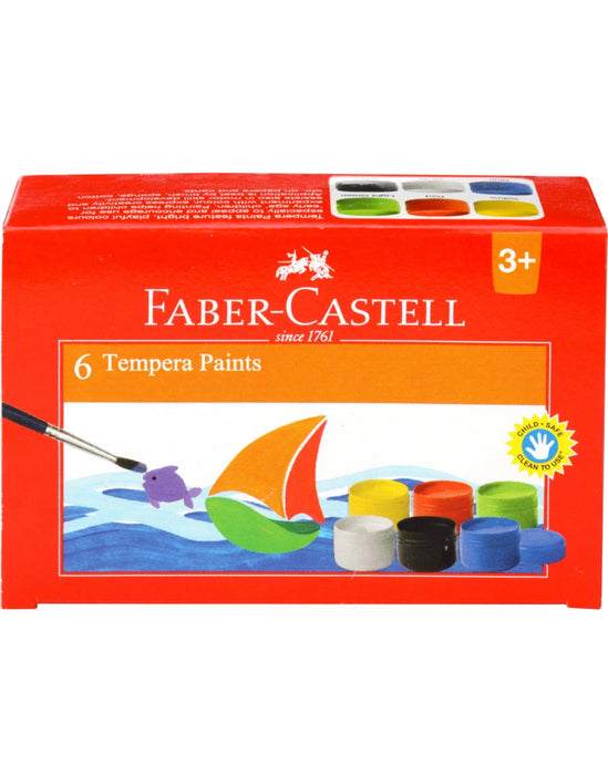 Faber-Castell 6 Tempera Paints