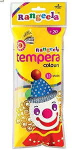 Rangeela Tempera Colours with free brush (12 shades)