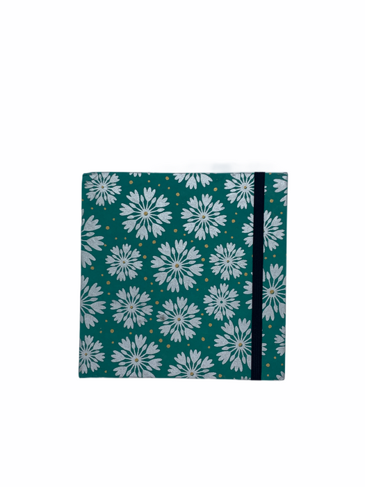 JAIPUR HAND MADE NOTE BOOK ( 6x6 SQUARE GREEN )