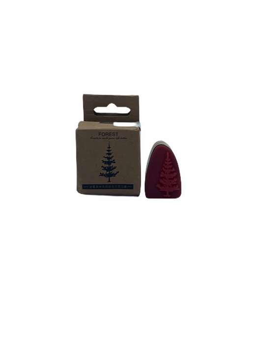 WOODEN RUBBER STAMP (Tree)