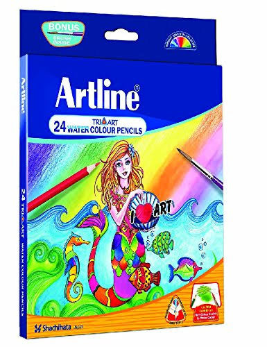 ARTLINE TRI-ART 24 WATER COLOUR PENCILS