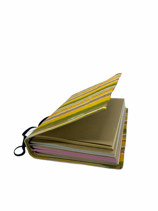 JAIPUR HAND MADE NOTE BOOK ( 4 LAYER PLANNER YELLOW)