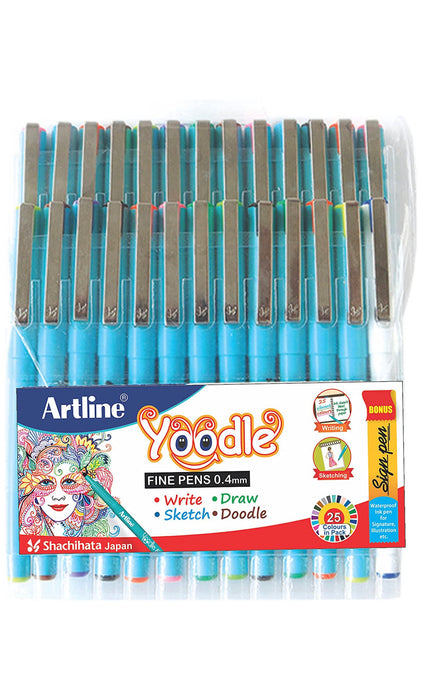 Artline Yoodle Fine Tip Pen Set of 25