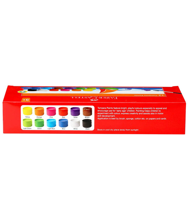 Faber-Castell Tempera Paint Set - Pack of 12 (Assorted)