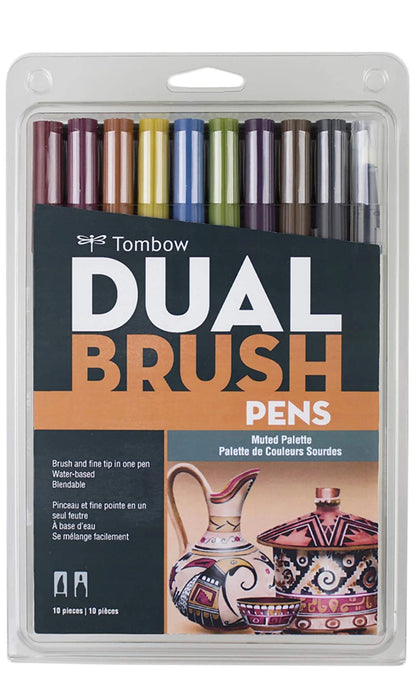 Tombow Dual Brush Pens ( Muted Palette )
