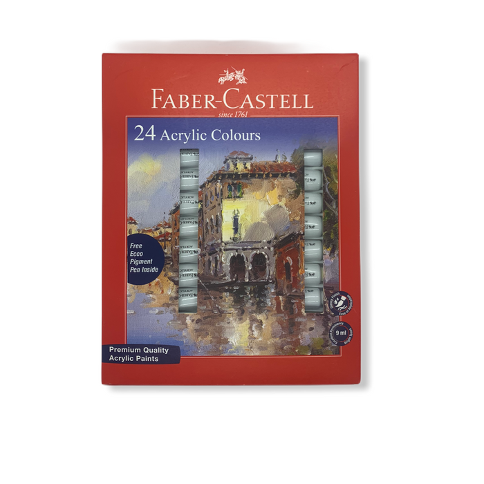 Faber-Castell Student Acrylic Colour Set - Pack of 24( 149024)