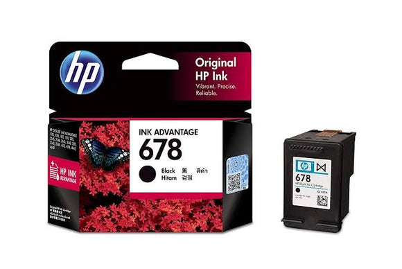 HP 678 BLACK CARTRIDGE