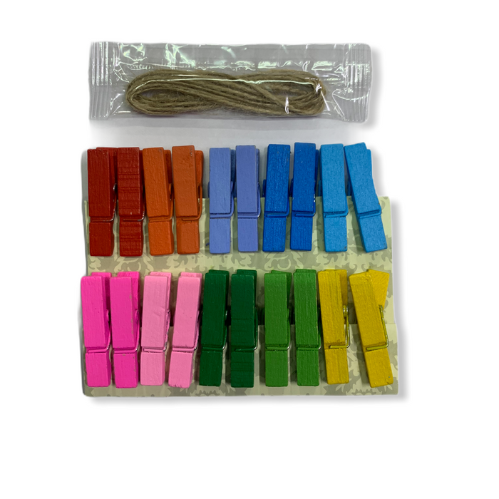 Wooden Clips ( Coloured )