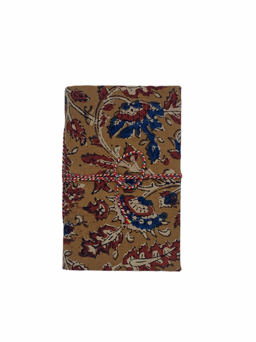 JAIPUR HAND MADE NOTE BOOK ( BLOCK PRINTED RED, BLUE)