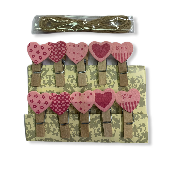 Wooden Clips ( Hearts )
