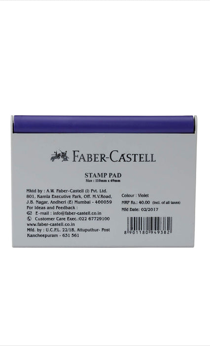 Faber-Castell Stamp Pad (Violet) Medium 110 mm x  69 mm