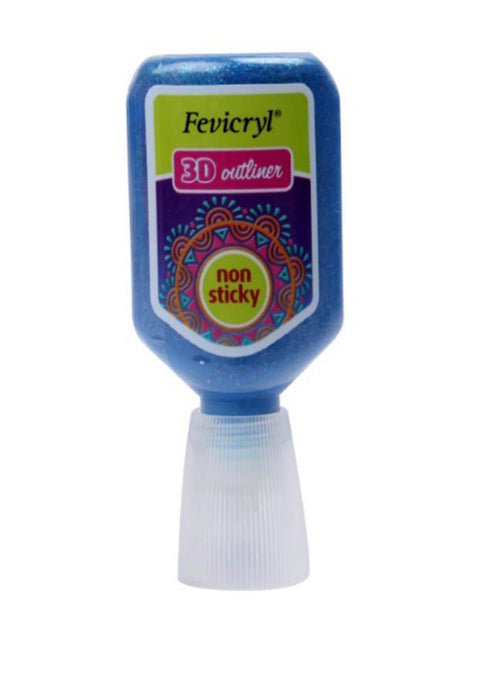 Fevicryl Hobby Ideas 3D Outliner Glitter 20ml-Magenta