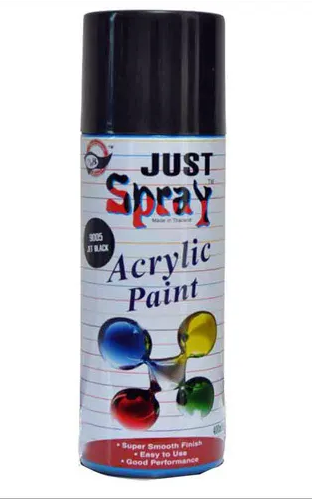 Just Spray Acrylic Paint ( Jet Black )