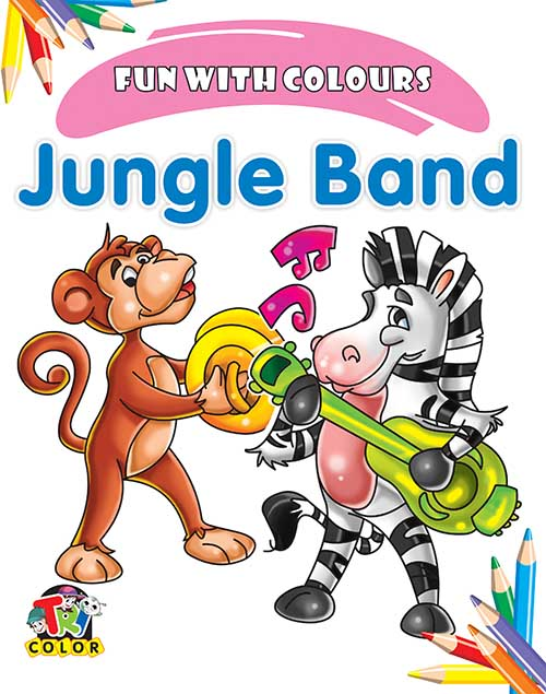 Tricolor Jungle Band Color book (Pack of 4)