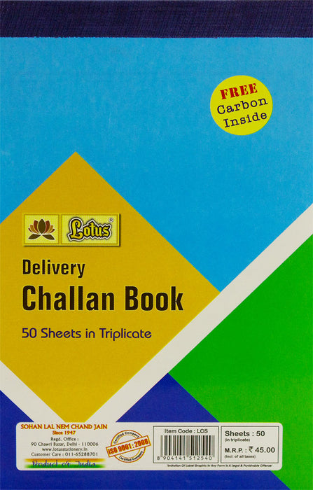 Lotus Delivery Challan book