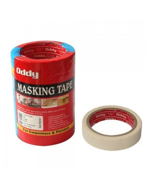 Oddy Masking Tape- 1 inch (Pack of 5)