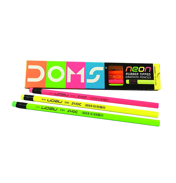 Doms Neon Pencils Pack of 10