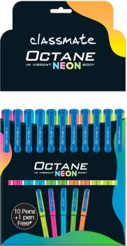 Classmate Octane Neon Pens (Pack of 10+1 Free)