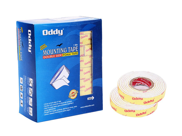 Oddy Double side mounting tape-12mm (Pack of 5)