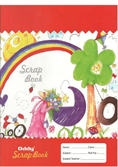 Oddy Student Scrap book with rules pages- A4