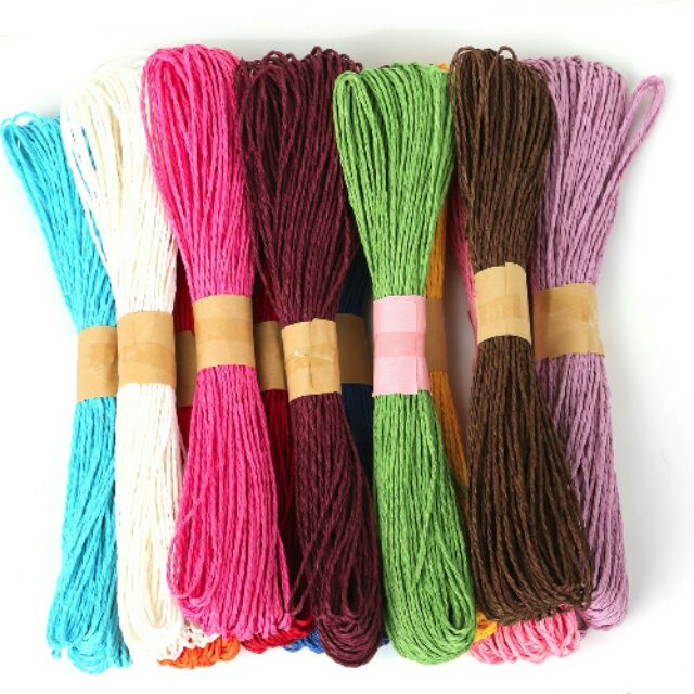 Twisted Paper Rope Threads (Assorted Colors)- Set of 12 Pieces
