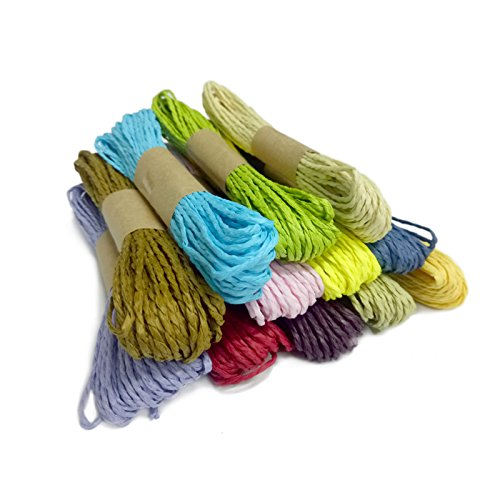Thread Twine Cord Twisted Jute Rope Threads (Assorted Colors)- Set of 12 Pieces