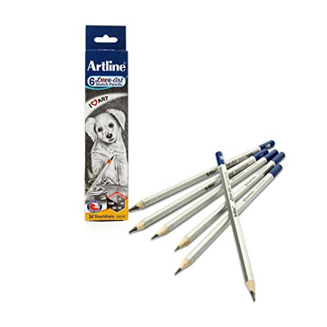Artline Love-art 6 Sketch Pencils (Pack of 6)