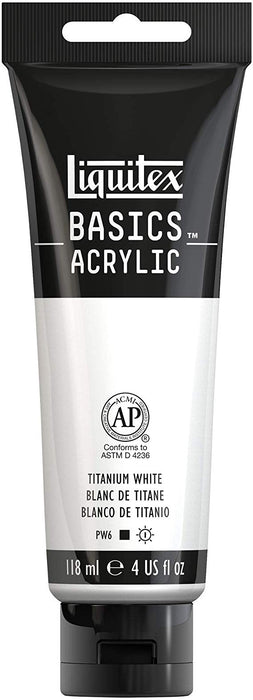 Liquitex Basics Acrylic Color- Titanium White (118ml)