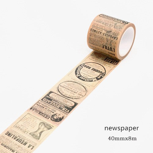 VINTAGE NEWS PAPER WASHI TAPE 40X8MM