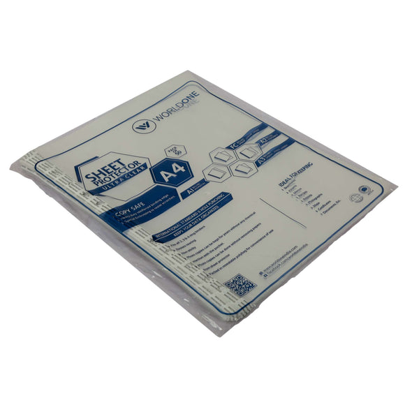Worldone Sheet protector- A4 Thick sheet protector (Pack of 50)