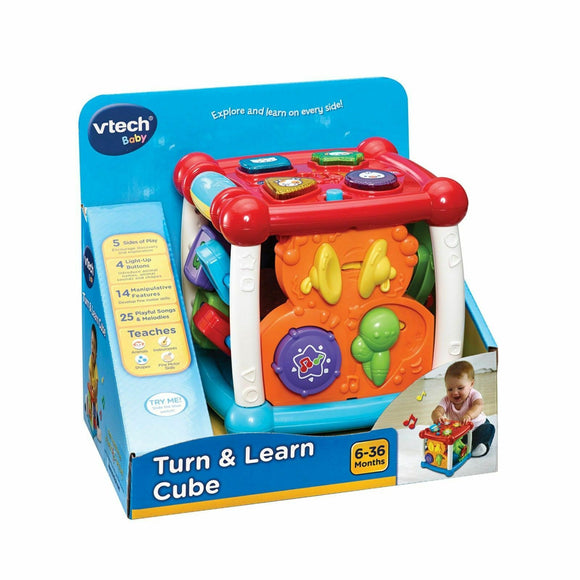 Baby Vtech Turn and Learn Cube Learning Toys For Children
