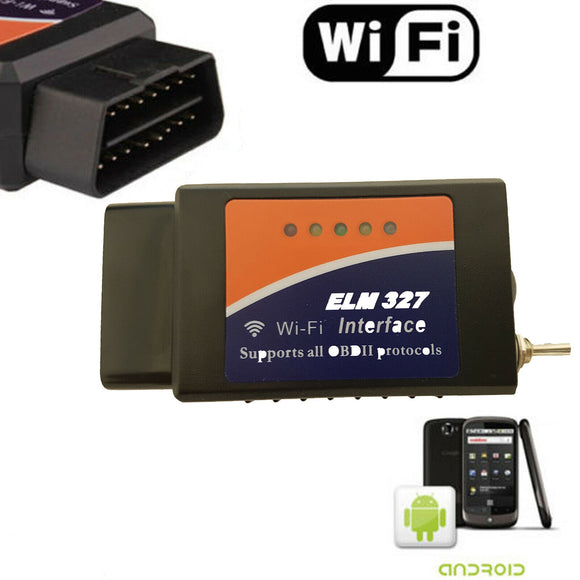 Modified ELM327 WiFi OBD2 Diagnostic Scanner Tool with Switch for Car Ford Mazda