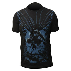New Mens Dark Knight T Shirt Crew Neck Sport Casual Gym Work