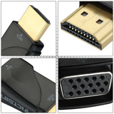 VicTsing HDMI To VGA Converter Adapter Gold Plated 1080P For PC Laptop Black PP
