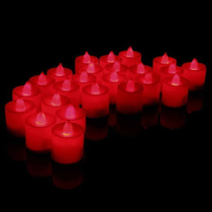 Latest 24 pcs led candle light Colourful Flameless Battery Operated Party