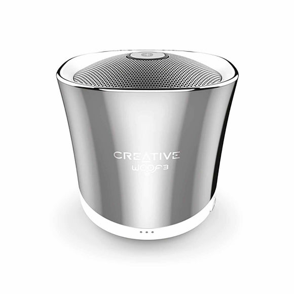 Creative Woof3 Micro Sized High Quality Bluetooth Wireless Speaker Winter Chrome