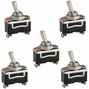 5x 12V Heavy Duty ON OFF 2 Pin Toggle Switch Car Dashboard Light SPST Switch
