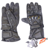 Mens Motorbike Gloves Leather Durable Max Air Flow Summer Cruiser Bikers Black