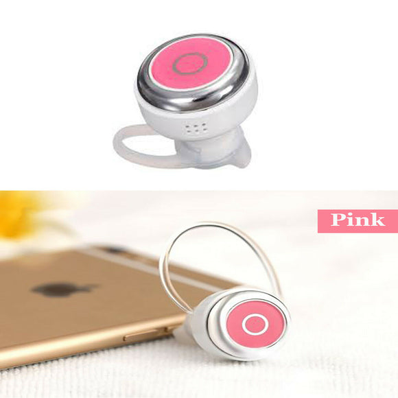 Q3 Mini Wireless Bluetooth V4.0 Calls Hands free Pink Earphone Headset Earbud