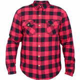 Motorcycle Cotton Flannel Casual Shirts Reinforced Made With DuPont™ KEVLAR®