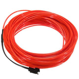 3M EL LED Soft Flash Flexible Neon Light Glow EL Strip Tube Wire Rope Car Decor
