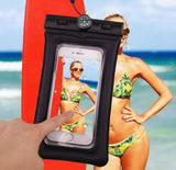 Brand New Universal Air Filled Waterproof Case Black Cellphone Dry Bag with C...