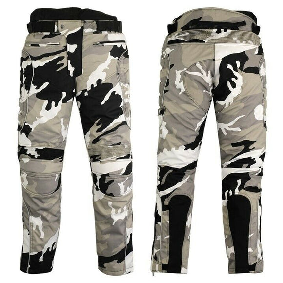 Mens Cordura Motorcycle Pants Trousers Ce armor Motorbike Thermal Liner Trouser
