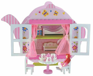 Kids Toy Bubbadoo Teapot Doll House Playset Wooden Fun Play Gift Item Girls Toys