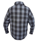 New Mens Stylish Cotton Flannel Comfortable Dress Shirts Red Check Print Grey
