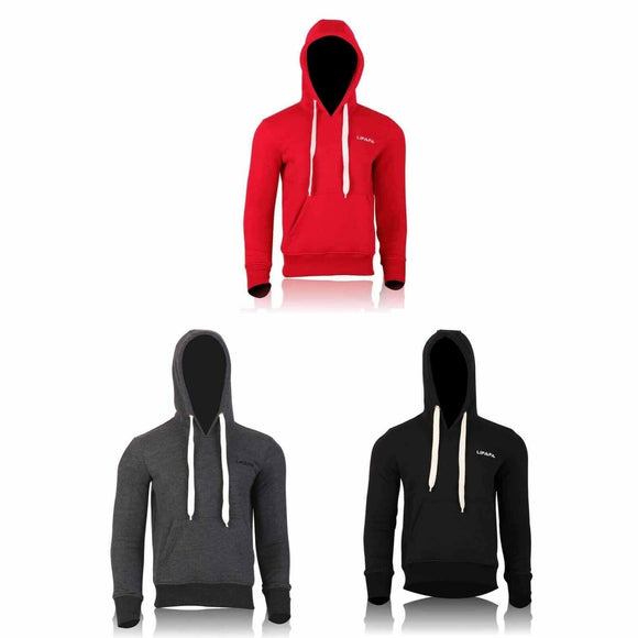 Mens Hoodie Casual Sweat Shirts Jumper Top Pullovers Cotton Sportswear