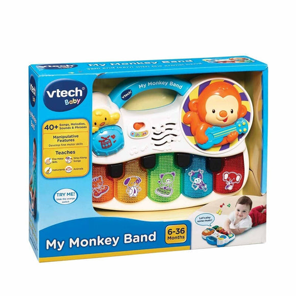 VTech Baby My Monkey Band Toys Instrumental Piano Child Kids Educational Toy